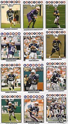 New England Patriots Football Cards - 4 Years Of Topps Complete Team Sets 2005,2006,2007, & 2008 - Includes Stars like Tom Brady & Randy Moss, Rookies & More - Individually Packaged!