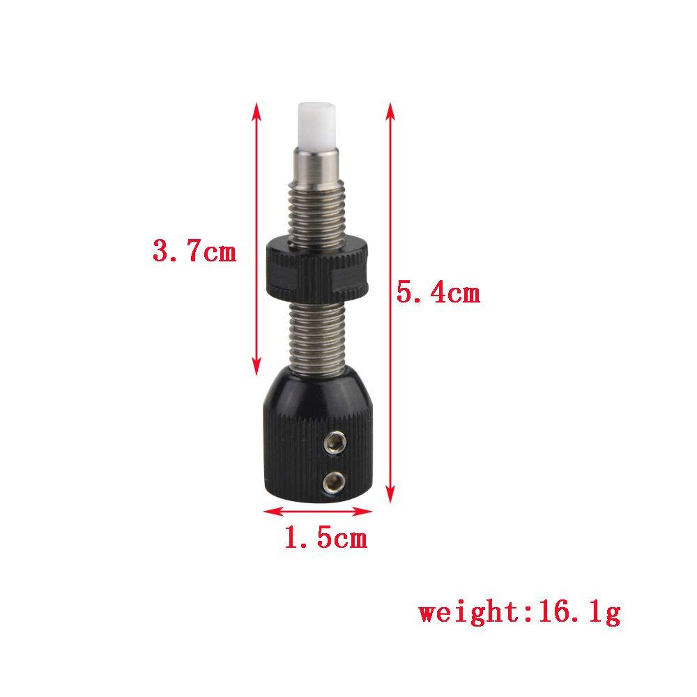 Button Plunger Magnetische Pfeilauflage Archery Button Druckknopf F/ür Recurve-Bogen Verstellbarer Kissen-Kolben