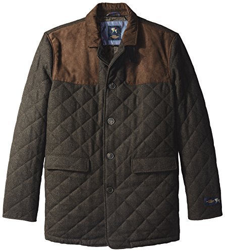 Hart Schaffner Marx Men's Big-Tall Stallworth Quilted Shooting Jacket, Espresso, Large/Tall