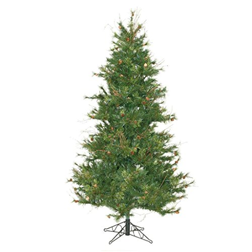 Vickerman 75' Unlit Slim Mixed Country Pine Artificial Christmas Tree