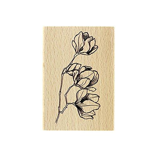 Floril/èges Design fg117085/fiori in pulsanti timbro legno 10/x 7/x 2,5/cm