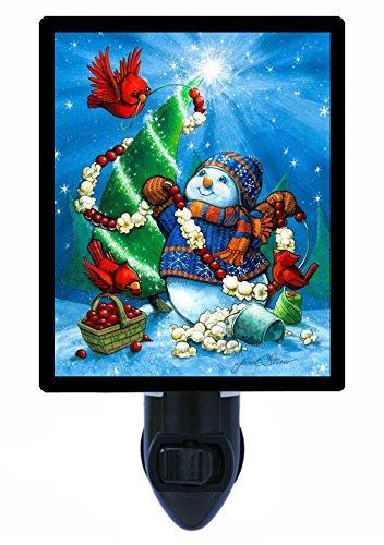 Night Light - Popcorn and Berries - Christmas Snowman LED NIGHT LIGHT