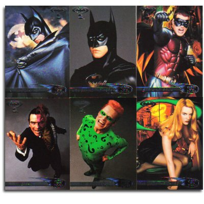 Batman Forever 1995 Fleer Ultra Complete Trading Card Set ... Rebecca Budig Batman Forever