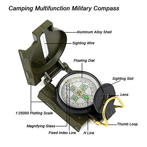 Kit de Primeros Auxilios 11 en 1 Bolsillo Multiusos Kit de Equipamiento de Supervivencia Herramienta Emergencia en el Exterior con br/újula Militar AI021 Kits de Supervivencia para Excursionistas