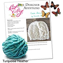 Cable Knit Hat Pattern, Winter Knit Hat Kit, Braided Cable Hat, Wool Hat, Cable Beanie, Women's Hat, Hat Knitting Pattern, Chunky Knit Hat (Turquoise Heather)