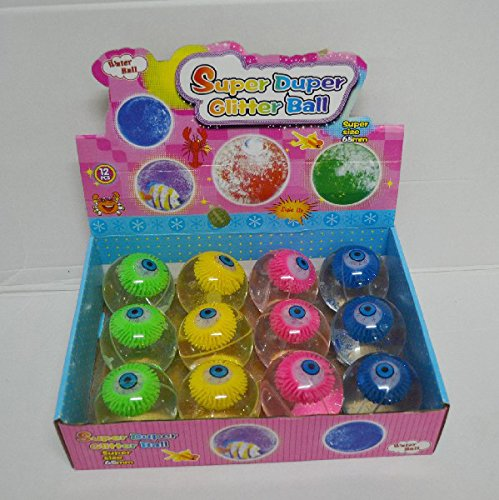 LED Light Up Flashing Bouncing Balls Party Favors - Various Ball Styles by Mammoth Sales (Glitter Eye (Blinking Led Eyes Halloween)