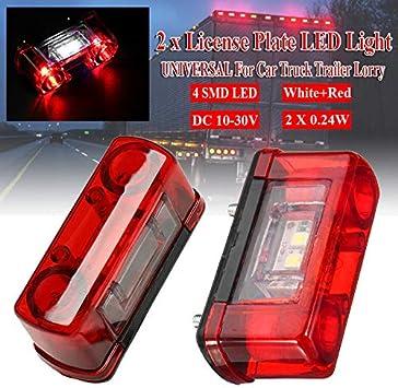 SUN123 Fanale Posteriore a LED per Targa per Camion Rimorchio Fanalino Posteriore