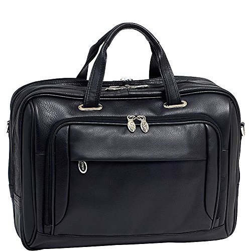 McKleinUSA WEST LOOP 44575 Black Expandable Double Compartment Briefcase by McKleinUSA