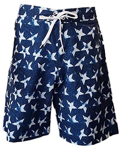 ToBeInStyle Men's Side Pocket Swimwear Boardshorts - Star - - Guys Swimwear
