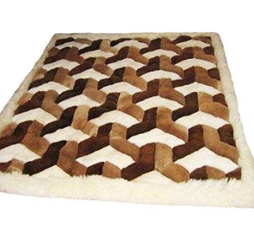 Alpacaandmore Original Peruanischer Alpaka Fellteppich Wohnzimmer