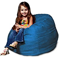 Chill Sack Bean Bag Chair: Large 2 Memory Foam Furniture Bean Bag - Big Sofa with Soft Micro Fiber Cover - Royal Blue