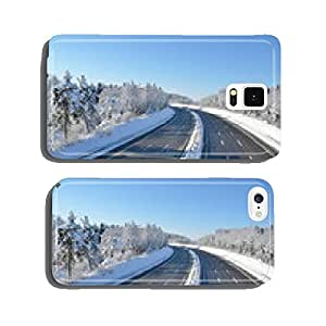 Winter highway cell phone cover case iPhone6