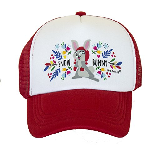 Kids Winter Trucker Hat. The Kids Baseball Cap is Available in Baby, Toddler, and Youth Sizes. (Kiddo 2-5 Yrs, RED) ()