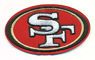 San Francisco 49ers Logo Football NFL Embroidered Iron On Patches Hat Jersey