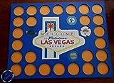 Vegas Poker Chip Insert Las Vegas emblem Fits 30 Casino or Harley chips Blue or natural birch insert 11 by 14 Custom-made