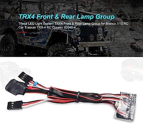 Sistema de luces LED TRX4 Grupo de luces delanteras y ...
