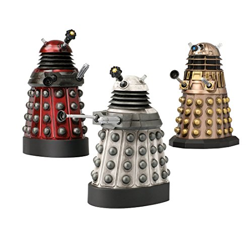 "Doctor Who Action Figures - Dalek Asylum Set - Measures 5-6"" Tall, Bronze Collectible Has Sound FX"