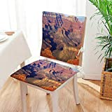 Mikihome 2 Piece Set Chair Cushion Epic South West Canyon Before Sunrise Tribal Ethnic National Landmark Wilderness Brown Perfect Indoor/Outdoor Mat:W17 x H17/Backrest:W17 x H36