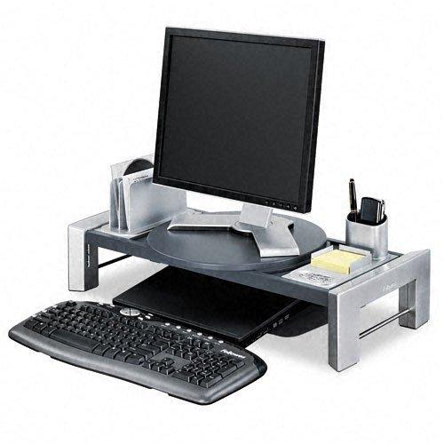 Fellowes Flat Panel Workstation - Flat Panel Workstation Shelf, 25 7/8 x 11 1/2 x 4 1/2, Gray Laminate Top by Fellowes