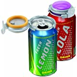 Jokari Fizz-Keeper Can Pump and Pour, Assorted Colors, 3-Pack