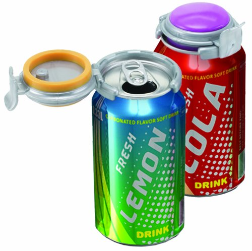 Jokari Fizz-Keeper Can Pump and Pour, Assorted Colors,Pack of 3 -
