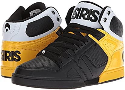 NYC 83 Skate Shoe, Black/Yellow/White