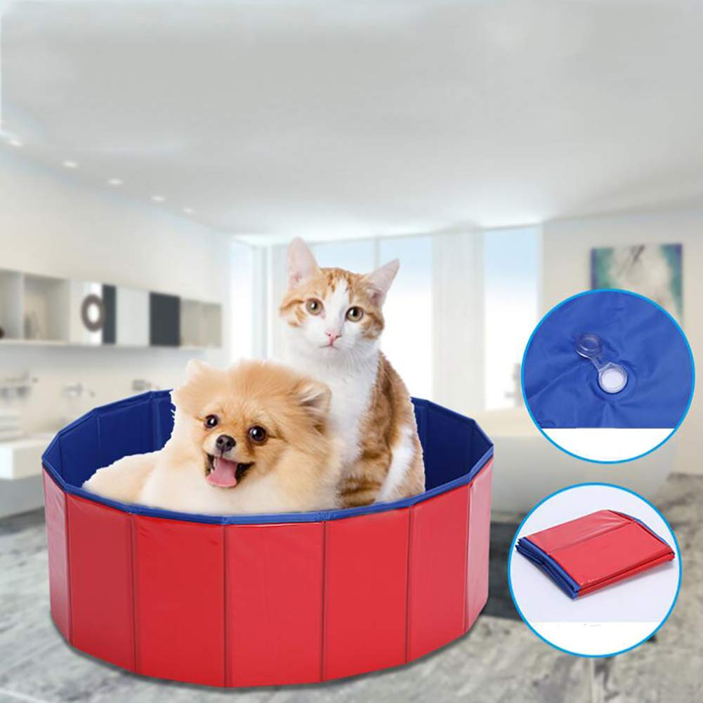 Large Foldable Dog Cat Bath Tub,Pet Dogs Cats Paddling Pool, Expandable Grooming Washing Accessory for Small Medium Big Pets,L