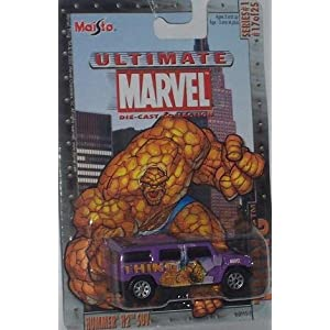 Maisto Ultimate Marvel #17 The Thing Hummer H2 SUV 1:64 Scale Diecast Car Fantastic Four