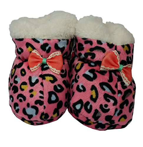 WIN Cute Infant Slippers Baby Booties for Girls Soft Sole Prewalker Crib Shoes 0-6 Months Gift (Mottled Pink)