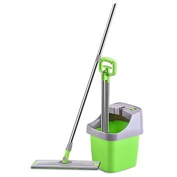 LJHA Mop und Eimer-Set / flach / Handwäsche frei / Spray Wasser ...