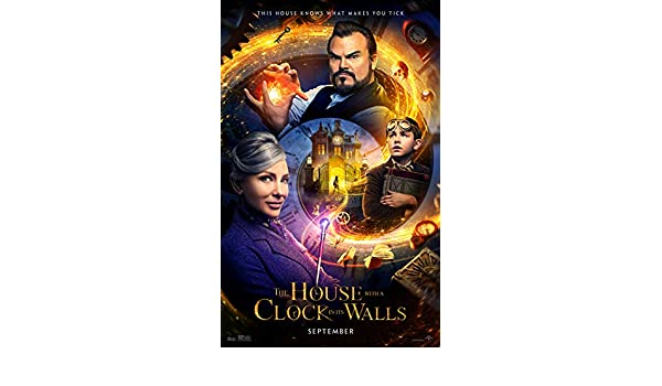 -Jack Black The House With A Clock In Its Walls Movie Poster Blanchett 1 24x36