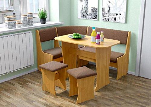 Fiji kitchen nook dining table set l shaped storage bench