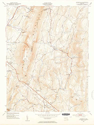 YellowMaps Myersville MD topo map, 1:24000 Scale, 7.5 X 7.5 Minute, Historical, 1953, Updated 1954, 27 x 20.3 in - Tyvek