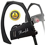 Bluetooth Headphones,HUICOCY V4.1 Stereo Wireless Headphones,Bluetooth Headset IPX5 Waterproof Wireless Earphones with Mic for Running&Gym(Black)