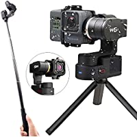 Feiyu WG2 Updated 3-Axis Wearable Waterproof Gimbal for GoPro Hero5/GoPro Hero4/Session AEE SJCam and Other Similar-Sized Action Cameras (Tripod and Extension Pole Included) (WG2)