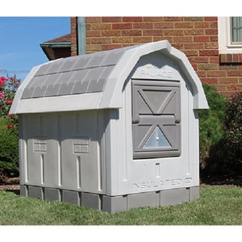 Dog House Insulation - ASL Solutions Deluxe Insulated Dog Palace with Floor Heater