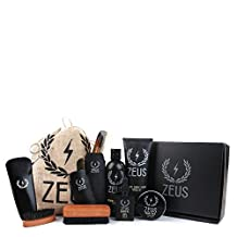 Zeus Ultimate Beard Care Kit Gift Set for Men - The Complete Beard Grooming Kit for Men for Softer, Touchable Beards (Verbena Lime)