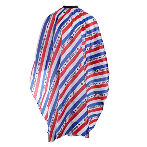 Flameer Pro Waterproof Salon Cape Gown Barber Hair Cutting Hairdressing Apron Unisex with Elastic Strap - B