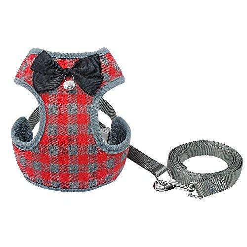 PET ARTIST Small Dog Harness Leash Set Adjustable Puppy Cat Harness Vest Soft Mesh for XSmall Small Medium Breed Dog Pet