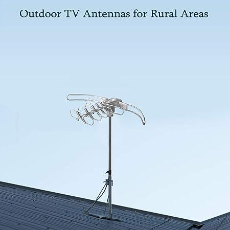 Lava Hd-2805 antena de TV HDTV con rotor de motor y mando a distancia, amplificador de bajo ruido, 2 salidas de TV, gira la antena con mando a ...
