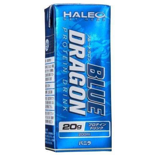 HALEO ブルードラゴン BLUE DRAGON 1パック(200ml)x1ケース (24パック入り) バニラ ハレオ プロテイン ドリンク 24本 B07B1QKMKF