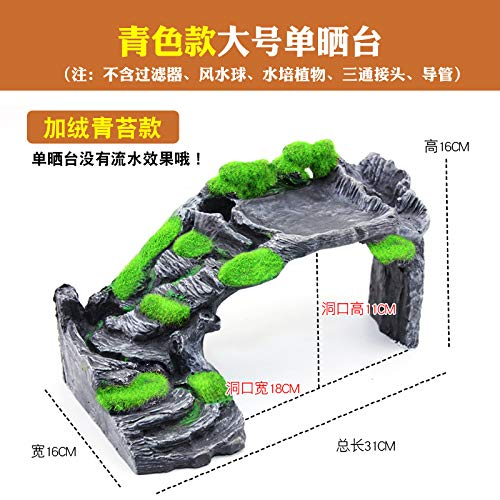 Large moss [single table] JRTAN&Pet Turtles, terraces, climbing platforms, sheltering caves, turtles, large moss, [single terrace]