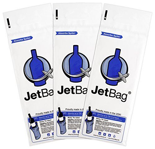 Jet Bag Bold - The Original ABSORBANT Reusable and Protective Bottle Bags - Set of 3 - Made in the USA - Three Olives Bubble