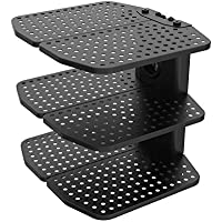 Loctek Wall Mount Floating Metal Shelf 221 lbs Weight Capacity of Each Layer for DVD Player/Game Box/TV Box/Cable Box