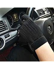Guantes de conducción de cuero de los hombres, conductor de coche protector solar conducción guantes finos de la sección respirable de los guantes llenos del dedo guantes de conducción de motocicletas