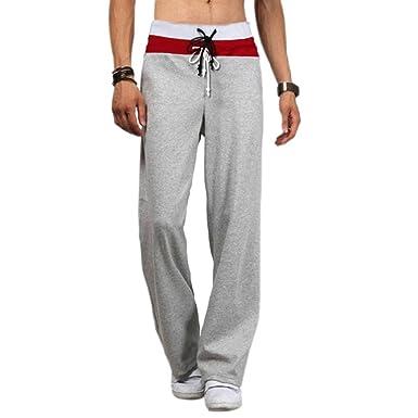... Coton Shorts De Sport-Pantalon De Danse-Confort Hommes Casual  Sweatpants Drawstring Danse Pantalon Hiphop Baggy Sport Jogging Sarouel  Pants  Amazon.fr  ... f63730a31b4