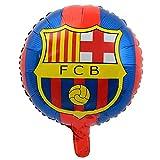 10pcs 18' Champions League Real Madrid Or Barcelona foil Balloons Football Soccer (Barcelona)