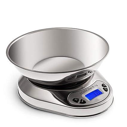 ZHANGY Cocina Balanza Escala Balanzas electrónicas de precisión Mini Comida doméstica Pesaje Balanza de Acero Inoxidable