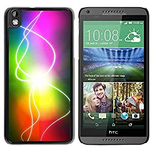 Paccase / SLIM PC / Aliminium Casa Carcasa Funda Case Cover para - Rainbow Sun Electricity Gay - HTC DESIRE 816