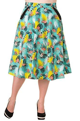 Banned-Wanderlust-Flamingo-Print-Vintage-Skirt-Plus-Size